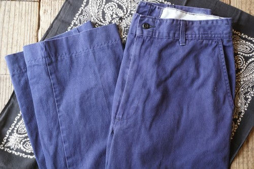 """90's EAGLE WORK CLOTHES cotton twill work Pants """"NAVY"""""""