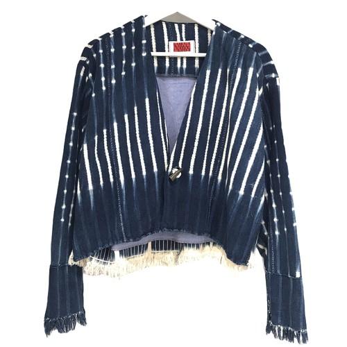 LIOT Vintage Indigo African Fabric Cardigan