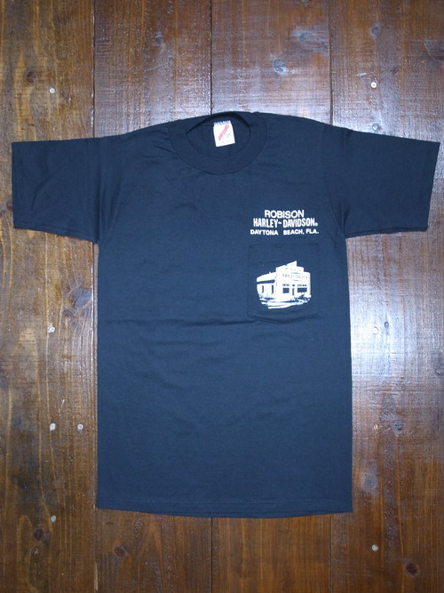 80's JERZEES Harley-Davidson 胸ポケ付き ROBISON T-Shirts(黒)DEAD STOCK ⑮