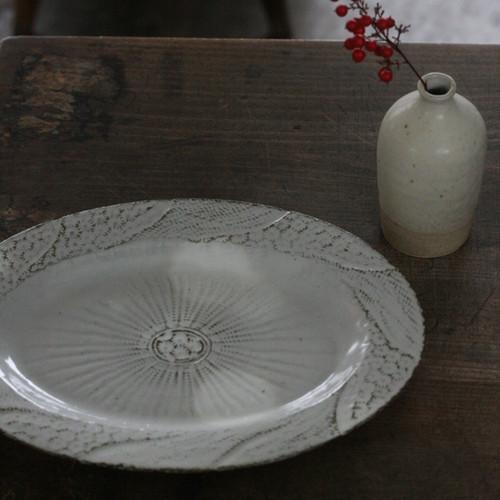 陶工房里一 三島オーバル皿