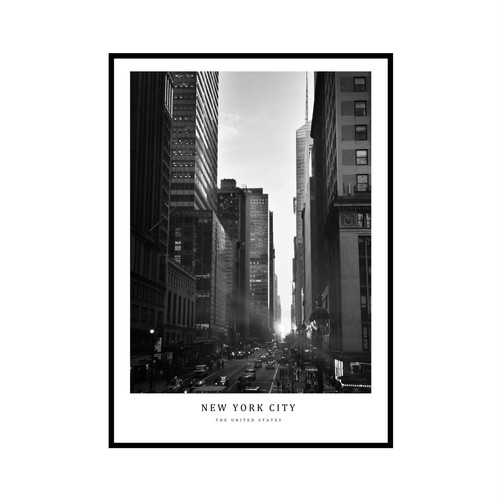 """NEW YORK CITY"" US - POSTER [SD-000594] A4サイズ ポスター単品"