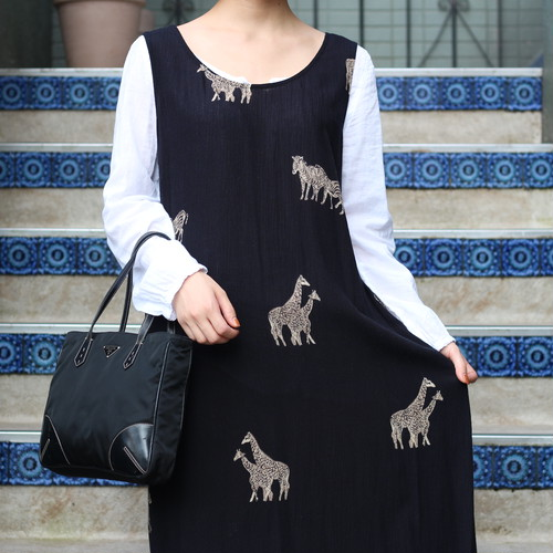 USA VINTAGE ANIMAL PATTEPNED NO SLEEVE ONE PIECE/アメリカ古着アニマル柄ノースリーブワンピース