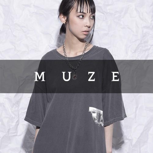 MUZE T-SHIRTS - HORSE- (WASHBLACK)
