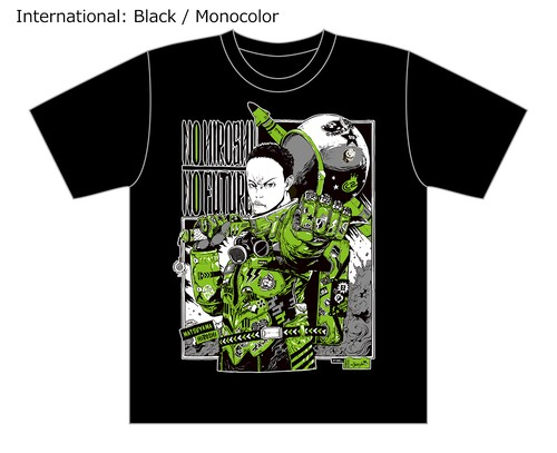 [Black / Monocolor] Special T-shirt of Collaboration Design by Hiroshi Matsuyama (CyberConnect2) and jbstyle.