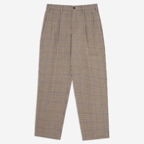 Double-Pleat Houndstooth Trouser