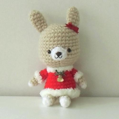 編みぐるみサンタ ウサギ