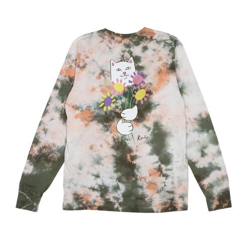 RIPNDIP - Flowers For Bae L/S Tee (Green / Pink Acid Wash)