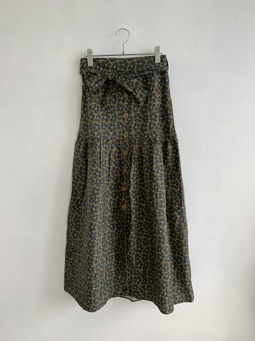 MAISON ANJE  Flower Long Skirt