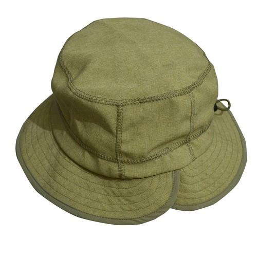 RAJABROOKE (ラジャブルック) / NYLON CHAMBRAY HAT -OLIVE-