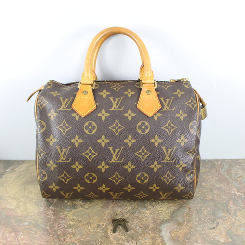 .LOUIS VUITTON SPEEDY25 M41528 TH0917 MONOGRAM PATTERNED BOSTON BAG MADE IN FRANCE/ルイヴィトンスピーディ25モノグラム柄ボストンバッグ 2000000045634