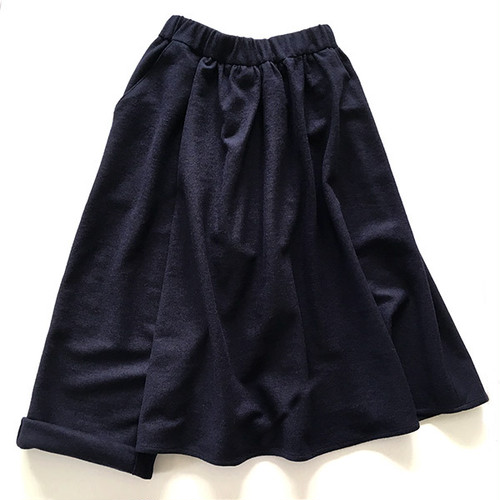 逢(あう) -wool flano- (NAVY)