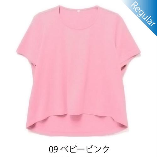 半袖丸首Tシャツ / 09ベビーピンク / 身長152cm→142cm / アイラブグランマ・スムースネック / 型番TC02-152