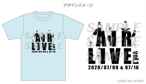 【藤村鼓乃美サイン付き】AIR LIVE Vol.1 Tシャツ