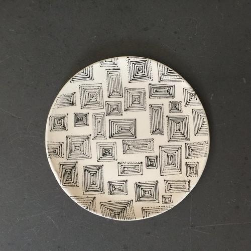 Squares small スクエア小柄 正円プレート ラージ
