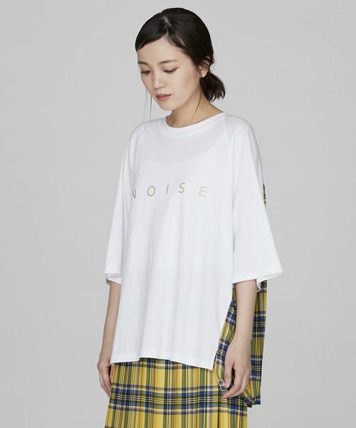 バックプリーツロゴTシャツ(ホワイト)