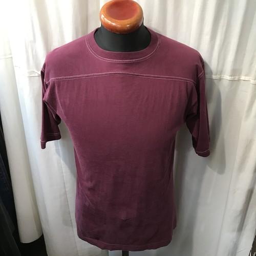 80's old WOLF フットボールTシャツ メンズM~L