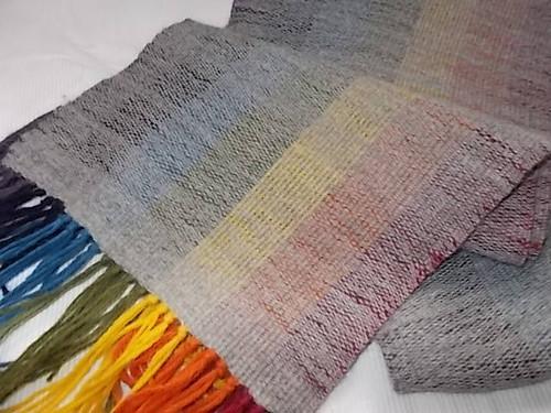 アルパカ100%手織りマフラー