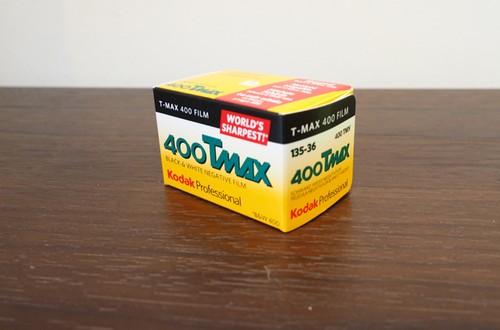 【モノクロネガフィルム 35mm】Kodak(コダック)T-MAX400 36枚撮り