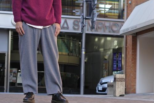 【maillot】soft melton marine pants