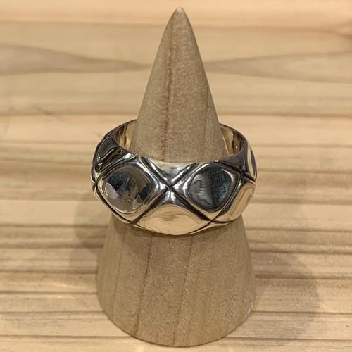 1点物『ダイヤパターンリング  14号』SILVER925製