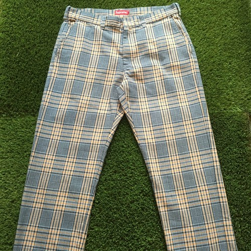 【SUPREME】 -シュプリーム-SS19 WORK PANTS BLUE PLAID