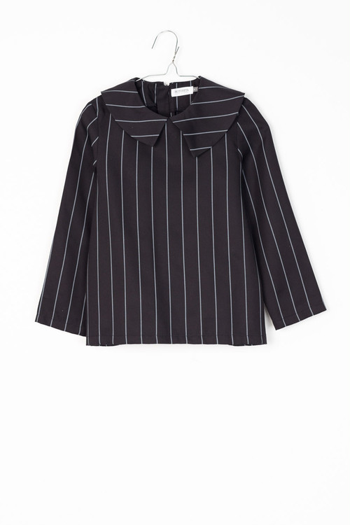 MOTORETA Baby ELMA BLOUSE/Black with grey lines