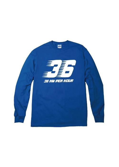36km/H ロングTシャツ ブルー
