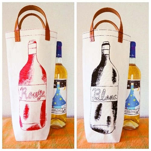 ワインバッグ / WINE bag C「ルージュ エ ブラン / Rouge et Blanc」キナリ