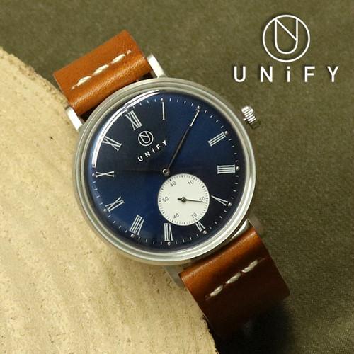 流通限定 ユニファイ UNIFY 腕時計 メンズ レディース UF-001NVCA クォーツ ネイビー キャメル ネイビー