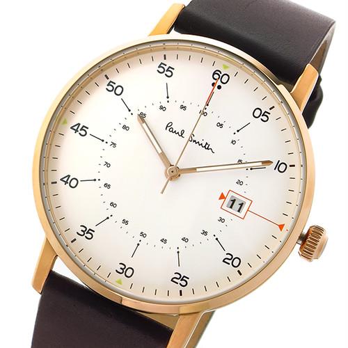 ポールスミス Paul Smith ゲージ GAUGE クオーツ メンズ 腕時計 P10077 ホワイト ホワイト
