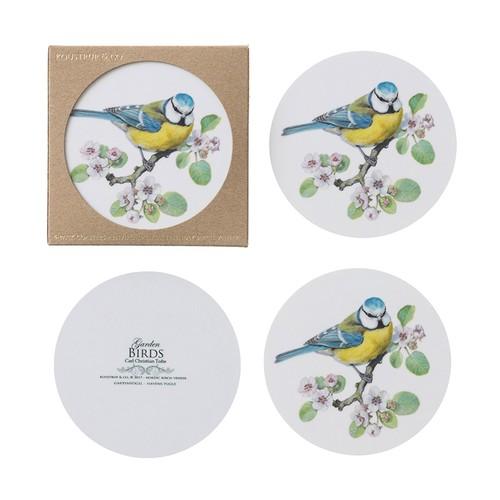 コースター 白樺 木製 1枚 KOUSTRUP & CO. - Blue Tit シジュウカラ