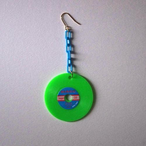 colorful record pierce(green)