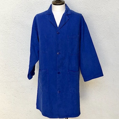 1970s French Work Shop Coat Cotton Twill B_360