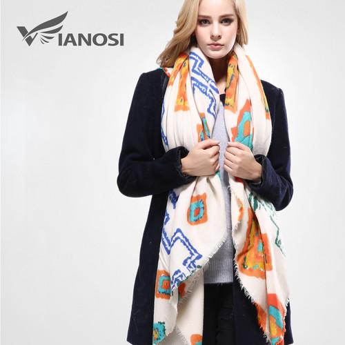 [VIANOSI]ヨーロピアンスタイルのバンダナ冬のスカーフ女性の暖かいラップブランドショールとスカーフ最高品質のコットンスカーフ女性VA093 VIO6274840