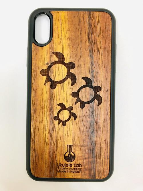 アイフォンケース カメ ホヌ iPhoneXR ウクレレ・ラボのコアの携帯ケース uk-85