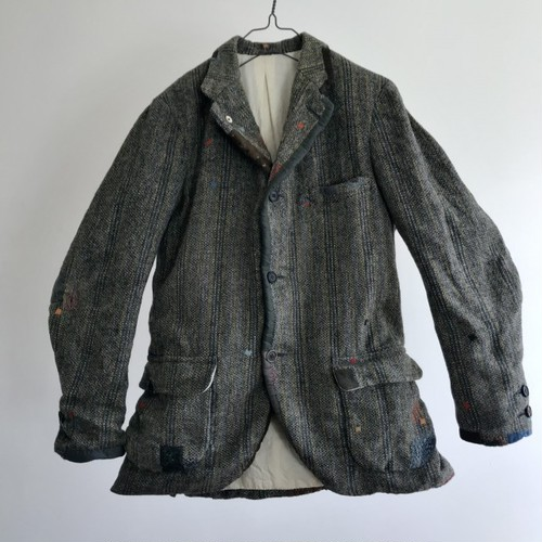 1950-1960 Vintage Lot of Darned and Patched Donegal Tweed Jacket Hand Woven in Ireland by The Brooks Brothers