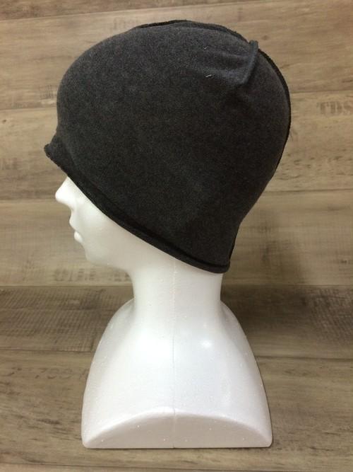【送料無料】こころが軽くなるニット帽子amuamu 新潟の老舗ニットメーカーが考案した抗がん治療中の脱毛ストレスを軽減する機能性と豊富なデザイン NB-6057 竹炭 <オーガニックコットン インナー>
