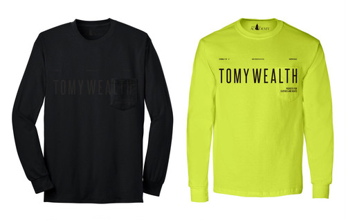 【Tomy Wealth】'Pockets For Clothes And Beats' Long Sleeve Shirts