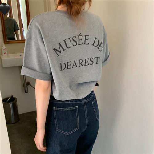 新作【送料無料】オーバーサイズ Tシャツ(dearest) T139