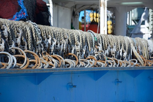 船上のロープ&金鎖