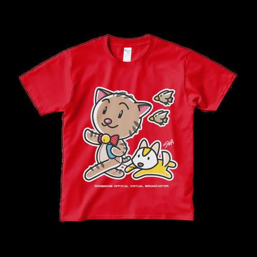 <レッドTシャツ 正面>おさんぽみーちゃん