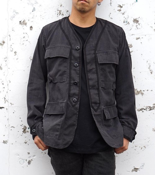 "[BDU BASEBALL JKT ""BLACK OUT""] size:XS"