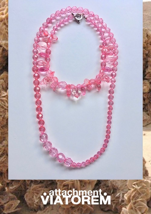 DESERTROSE NECKLACE #transparent pink [VTACSS20002]