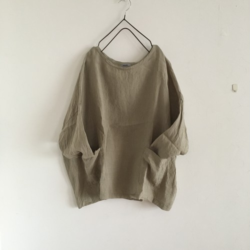 drop shoulder pullover  生成り