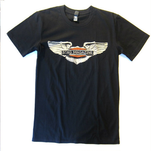 訳あり: Stag Magazine Winged Tee, black