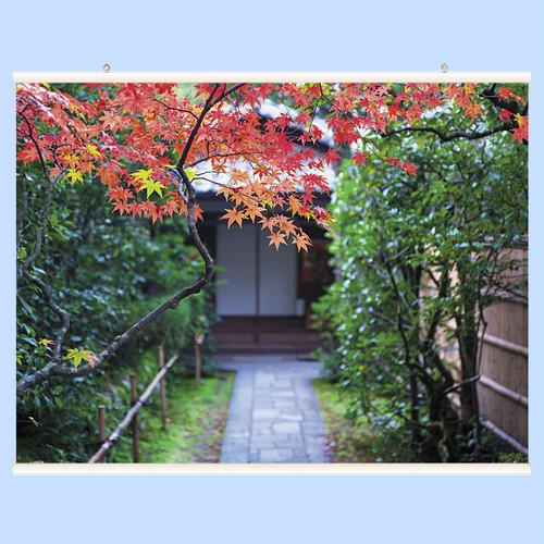 紅葉の庭先 【ハンガー付き】