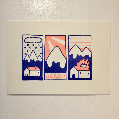 [POSTER] APES risograph poster