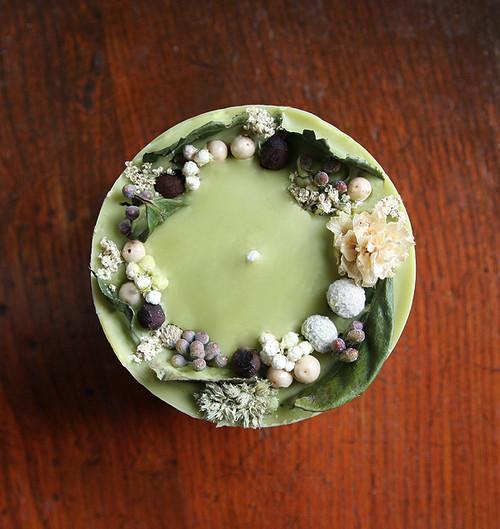 ソイミツロウボタニカルキャンドル(抹茶)