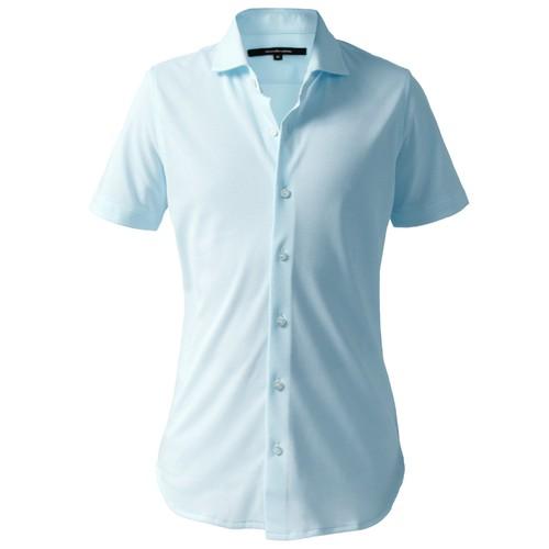 DJS-004 decollouomo メンズドレスシャツ半袖 concorde - スカイブルー
