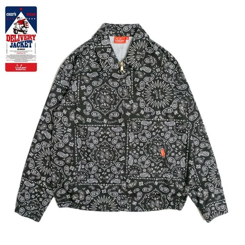 COOKMAN DELIVERY JACKET「PAISLEY」/ BLACK